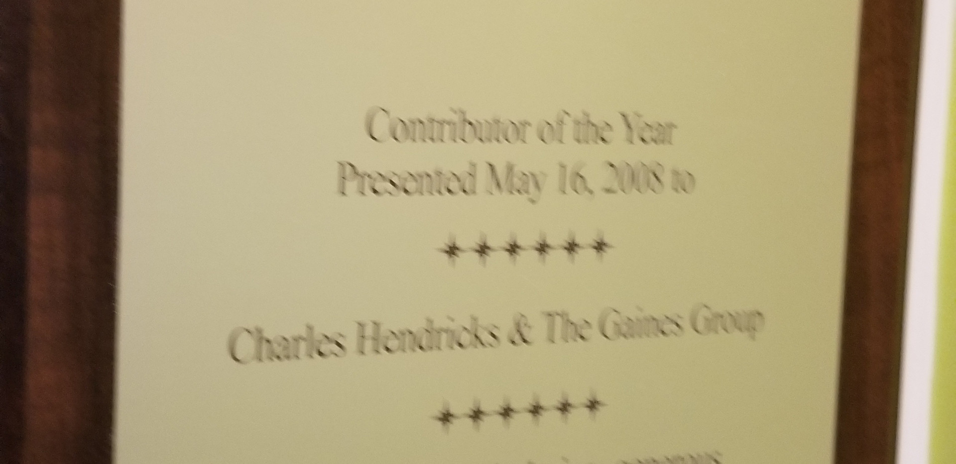 CATEC Foundation Contributor of the Year 2008