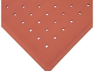 3 x 5 Anti-Fatigue Mat-Red w/holes
