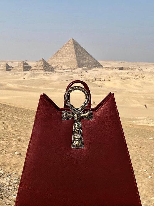 Ankh backpack Gold/Burgundy