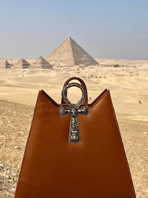 Ankh backpack Gold/Camel