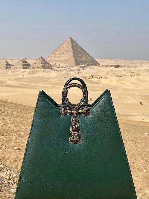 Ankh backpack Gold/Olive