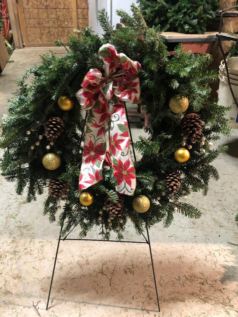 Wreath on Easel