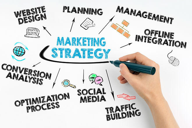 Hand with marker writing - Marketing Str