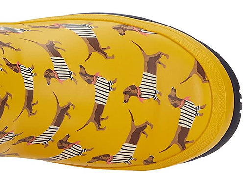 "Joules short Wellibob ""yellow sausage dogs"""