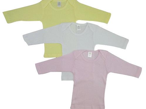 Bambini Girls Pastel Variety Long Sleeve Lap T-Shirts