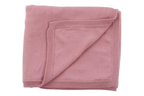 Cotton Cashmere Pink Blanket