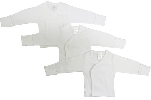 Bambini Long Sleeve Side Snap With Mittens - 3 Pack