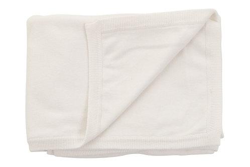 Cotton Cashmere White Blanket