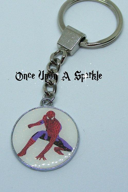 Key Ring Spiderman White