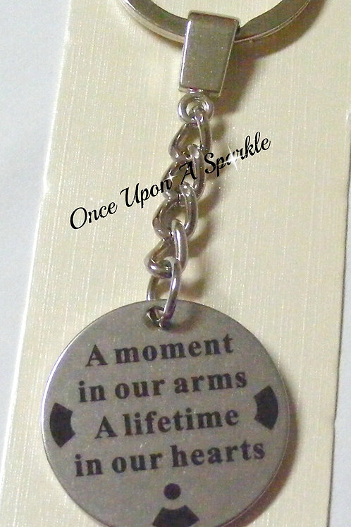 a moment in our arms a lifetime in our hearts pendant