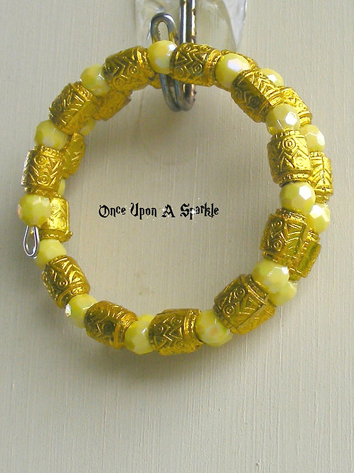 Wrap Bracelet - Yellow & Gold Barrels