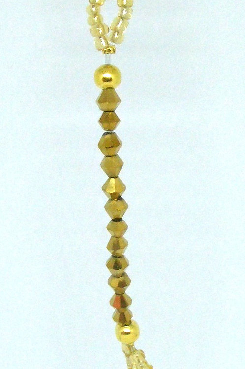 Single Gold Strand with gold charm
