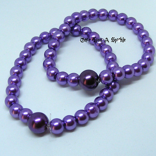 "Stretch ""Buddy"" Bracelets Purple Pearl"