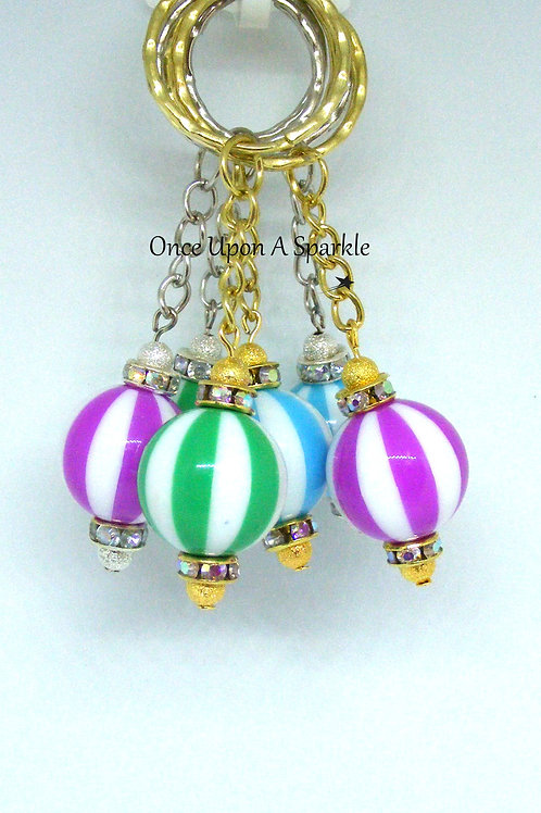 Balloon Stripe Key Ring