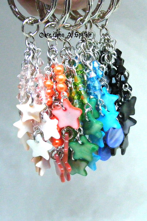Group Star Shell Key Rings