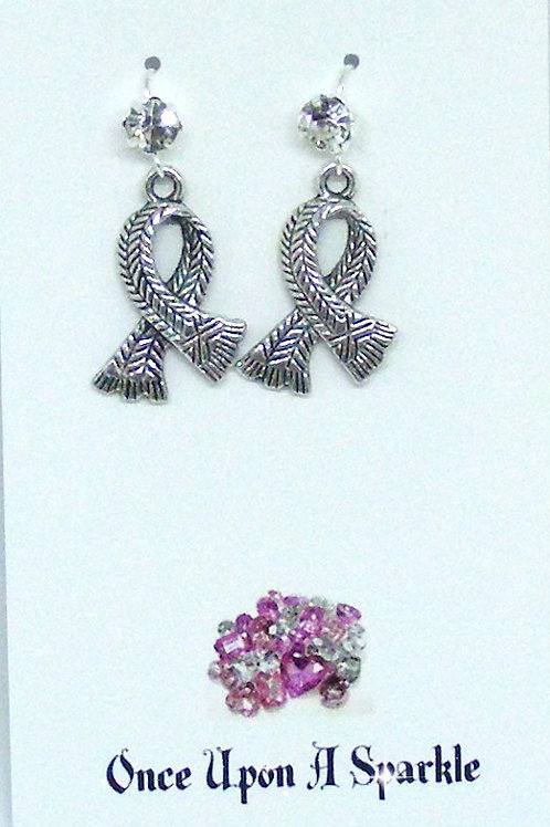 Rhinestone hooks with detailed scarf earrings