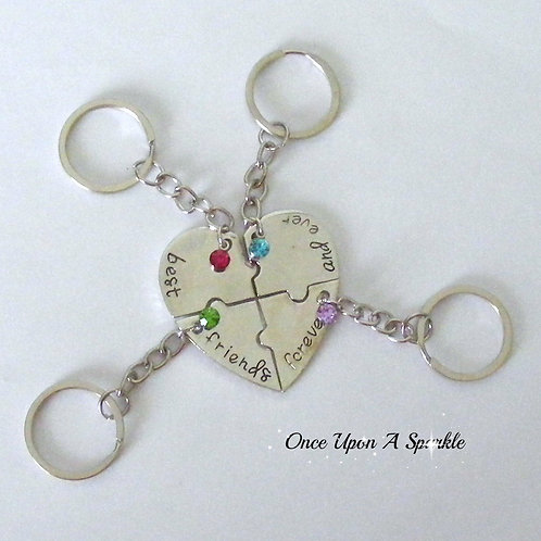 Best Friends For Ever & Ever Key Ring Set