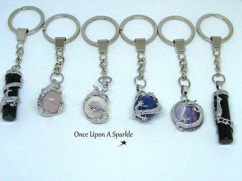 Dragon Wrapped Key Rings and Phoenix Wrapped