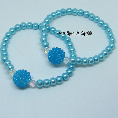 Buddy Stretch Bracelets Aqua Pearl & Bubble
