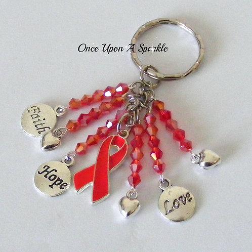 Awareness Key Ring - Red