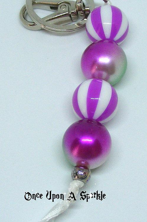 Bag Dangle Purple Stripes & Neon