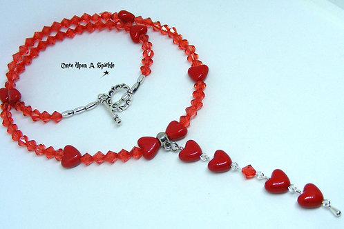 Red Heart Dangle Necklace