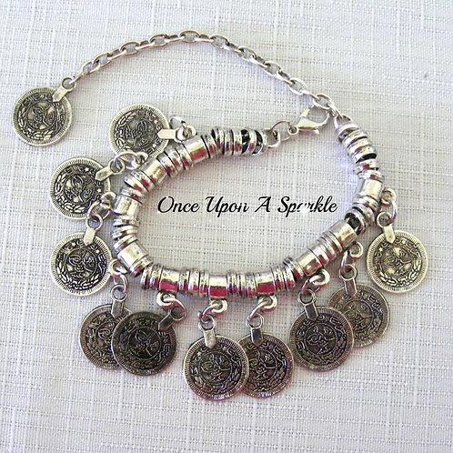 boho coins antique silver