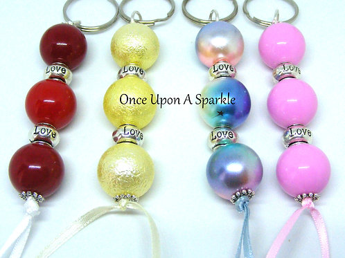 Love bead key ring