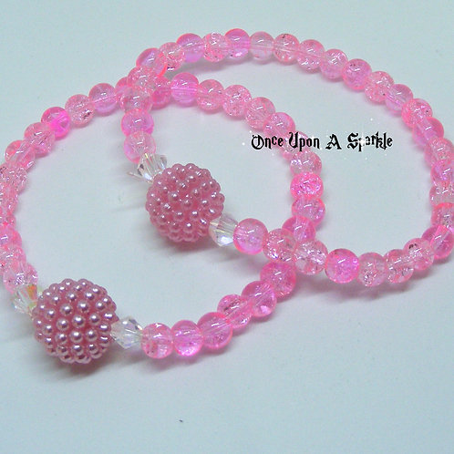 Pink Stretch Buddy Bracelets Crackle & Bubble
