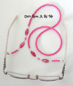 Glasses Holder Pink seed & MOP