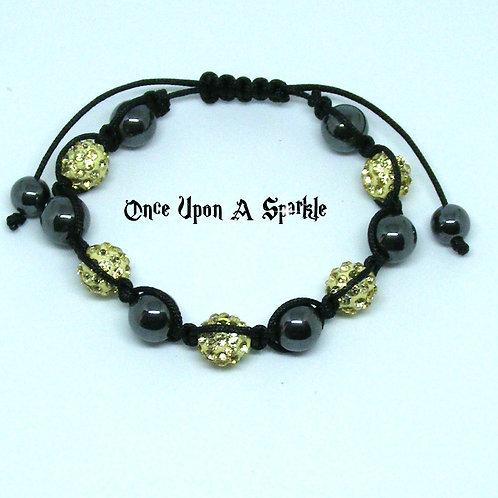 Yellow & Hematite Bracelet
