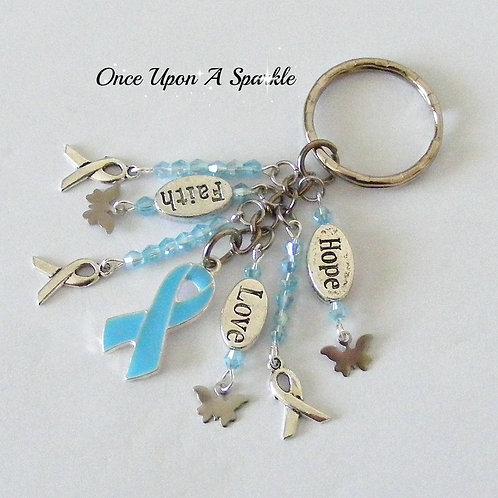 Awareness Key Ring - Pale Blue