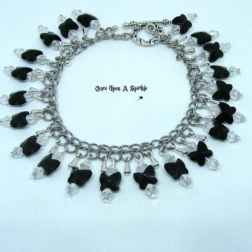 Black Butterfly Charm Bracelet