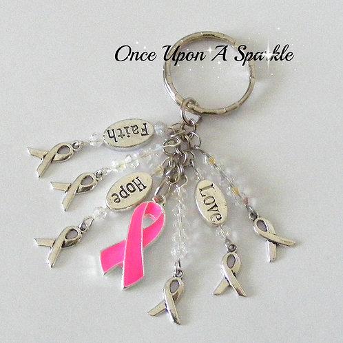 Awareness Key Ring - Pink