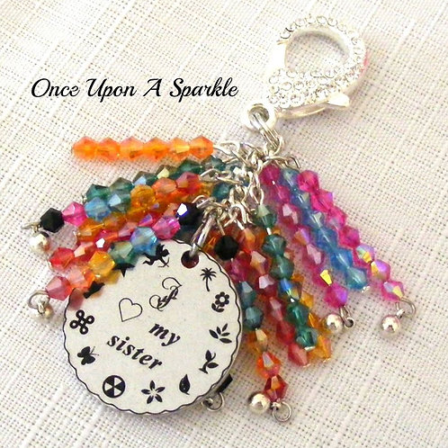 Bag Dangle - Message Rainbow