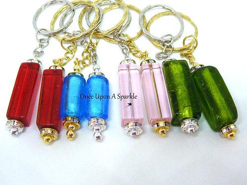 Glass Column Key Rings
