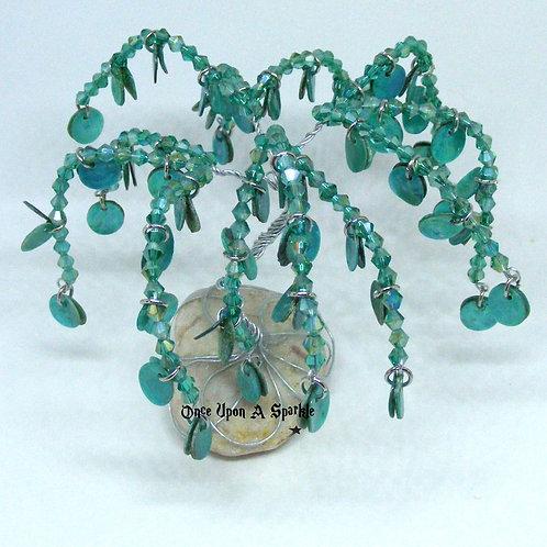 Green Bicone & Shell Tree