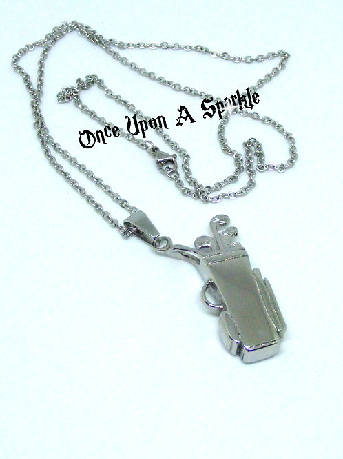 Golf Bag & Clubs Necklace