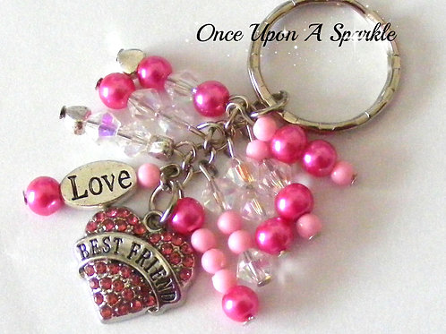 Best Friend with Love Key Ring