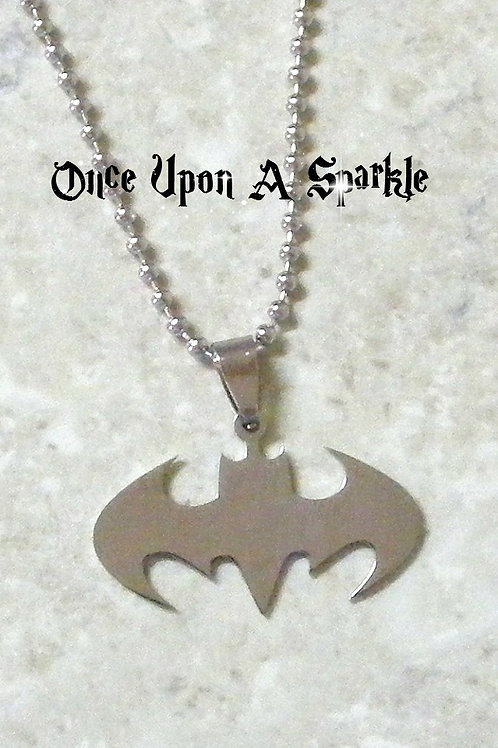 Stainless Steel Batman Necklace on ball chain