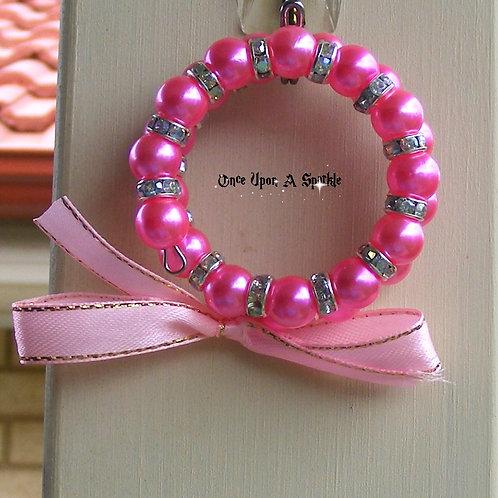 Wrap Bracelet - Pink & AB with Pink Ribbon