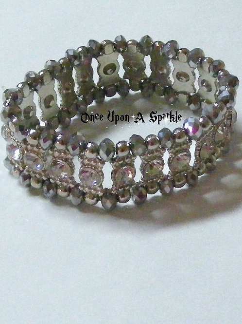 Bracelet - Stretch Silver Wide
