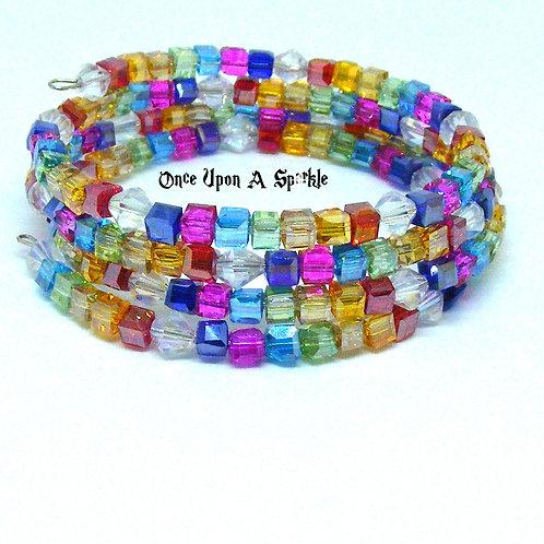 Austrian Crystal Wrap Bracelet flat