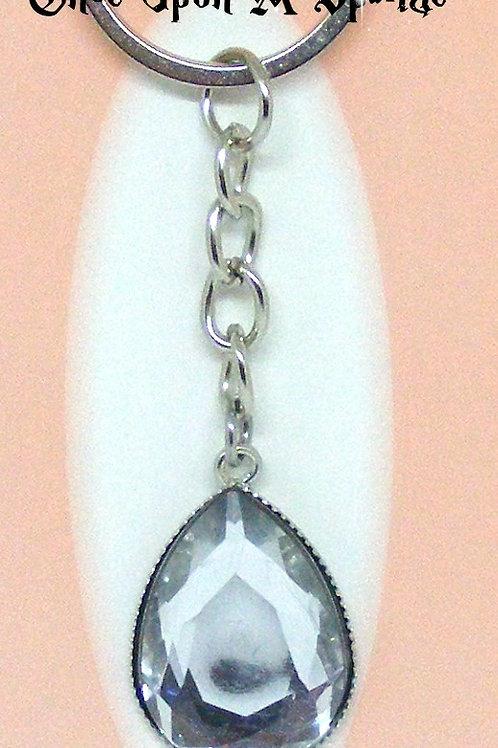 Clear Tear Drop Key Ring