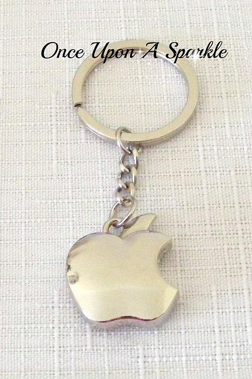 shiny stainless steel apple pendant