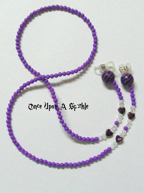 Glasses Holder - Purple Tiger