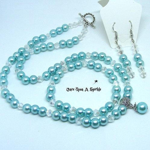 Miscellaneous - 3 piece Aqua Jewellery Set