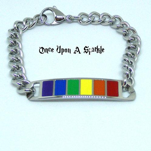 Rainbow bracelet gay pride