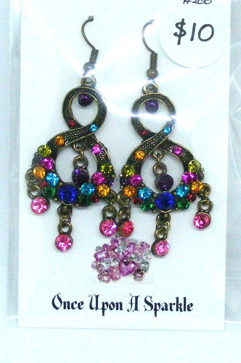 Gypsy bronze figure 8 dangle earrings