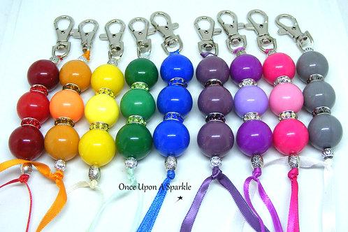 Bubblegum Ball Beads Bag Dangles